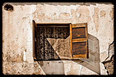 Hanioti, Greece - Window And Lace Poster