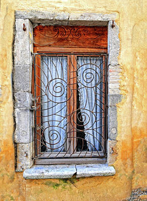 Poster featuring the photograph Window Provence France by Dave Mills