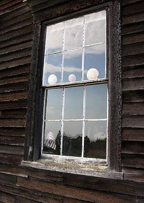 Window With Seashells Poster