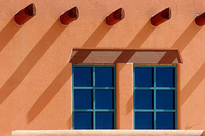 Windows Blue Poster by Vicki Pelham