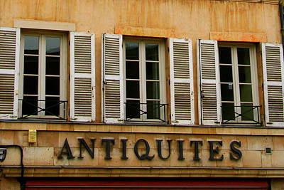 Poster featuring the photograph Windows Of Antiquites by Laurel Talabere