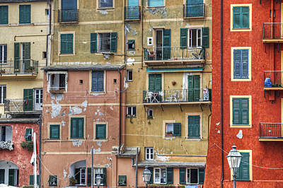 Windows Of Camogli Poster by Joana Kruse