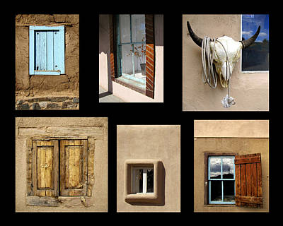 Windows Of Taos Poster by Ann Powell