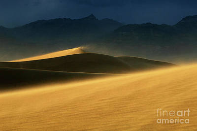 Death Valley Windswept Dunes Poster by Bob Christopher