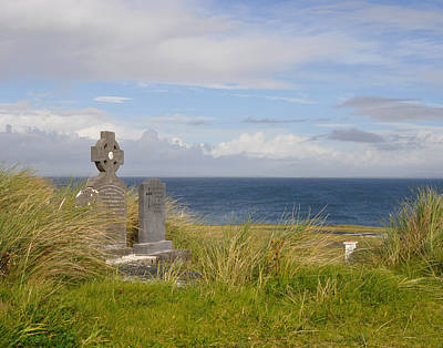 Poster featuring the photograph Windswept Grave by Cheri Randolph