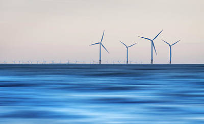 Windturbines, Burbo Bank, Crosby Poster by Ian Moran
