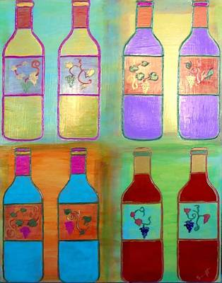 Wine Bottles II Poster by Char Swift