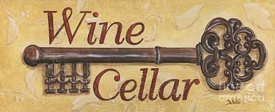 Wine Cellar Poster by Debbie DeWitt