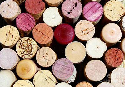 Wine Corks 3 Poster by Sophie Vigneault