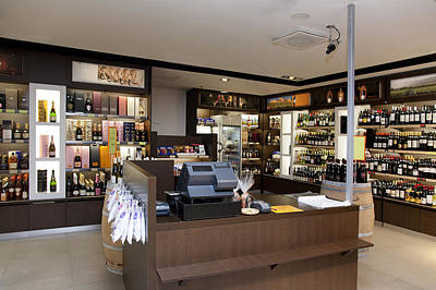 Wine Food And Luxury Goods Retail Poster