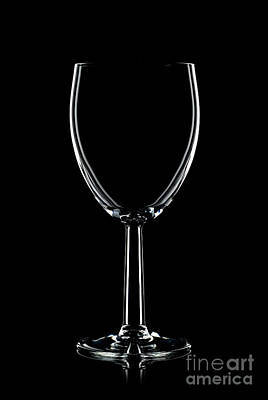 Wine Glass On Black Poster