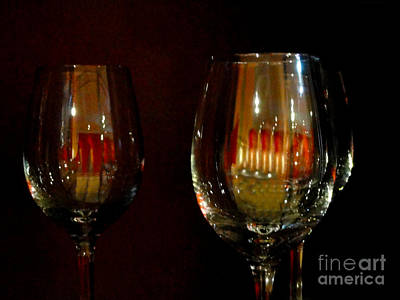 Wine Glasses Poster by Al Bourassa