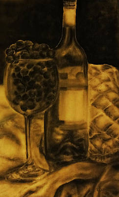 Wine Grapes Poster by Tylir Wisdom