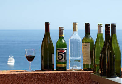 Wine In Mandatory In France Poster by Chris Ann Wiggins