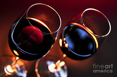 Wineglasses Poster by Elena Elisseeva
