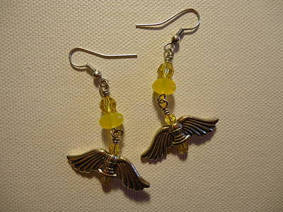 Wings Of An Angel Earrings Poster