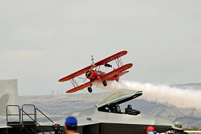 Wingwalker Take-off 7850 Poster by David Mosby