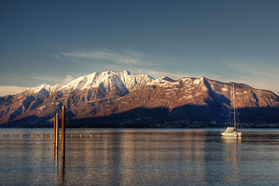 winter at the Lake Maggiore Poster by Joana Kruse