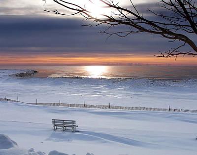 Winter Beach Morning Poster by Bill Pevlor