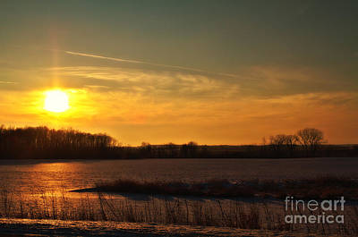 Poster featuring the photograph Winter Country Sunset by Joel Witmeyer