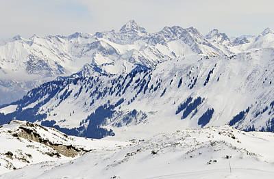 Winter In The Alps - Snow Covered Mountains Poster