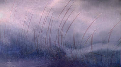 Poster featuring the painting Winter Long Grass by Jean Moore