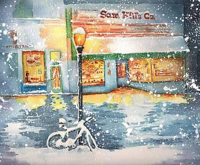 Winter On Whiskey Row Prescott Arizona Poster