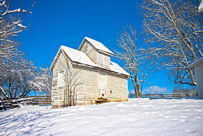 Winter Smoke House Poster by Betsy Knapp