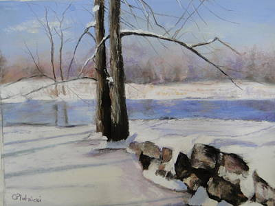 Poster featuring the pastel Winter Solace by Cindy Plutnicki