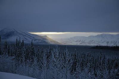 Winter Sun Alaska Poster by John Wolf