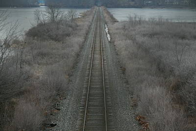 Poster featuring the photograph Winter Tracks  by Neal Eslinger