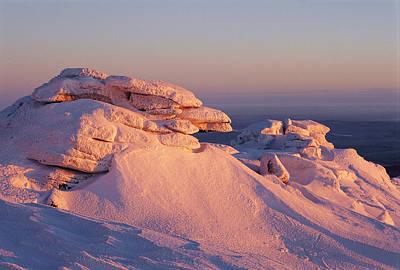 Winter View Of The Top Of Brocken Poster by Norbert Rosing