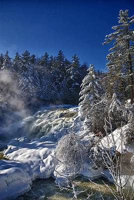 Winter Waterfalls Poster by Andre Faubert