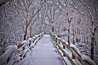 Winter's Boardwalk Poster by Jeff Swanson