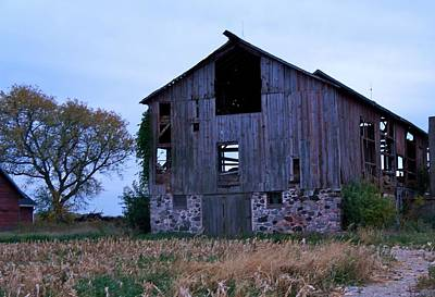 Poster featuring the photograph Wisconsin Barn by Kristine Bogdanovich