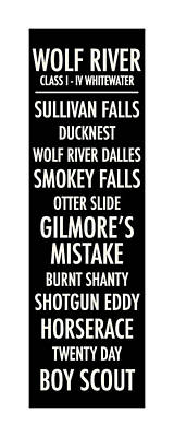 Wolf River Poster by Geoff Strehlow