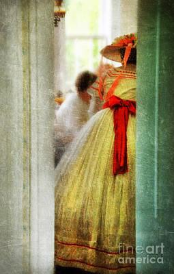 Woman In Vintage Victorian Era Dress Poster