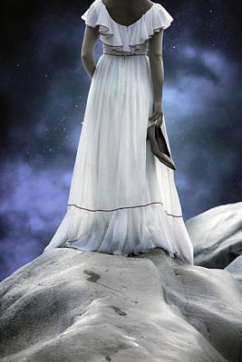 Woman On Rocks Poster