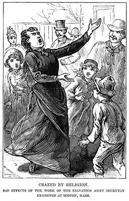 Woman Preaching, 1888 Poster by Granger