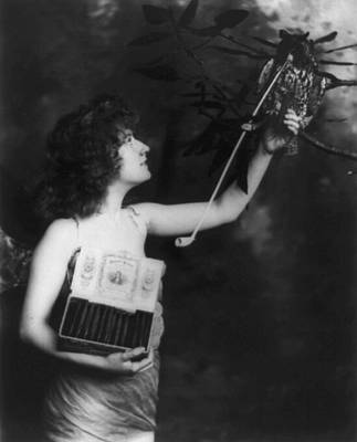 Woman Wearing A Winged Costume Poster