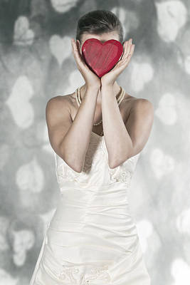 Woman With Heart Poster by Joana Kruse