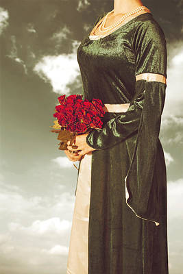 Woman With Roses Poster