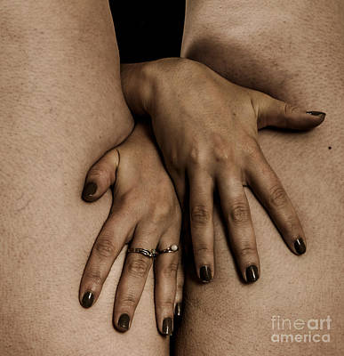 Woman's Hands Poster by Pierre-jean Grouille