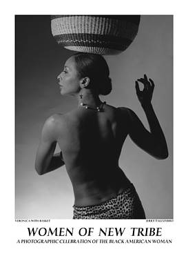 Women Of A New Tribe - Veronica With Basket Poster by Jerry Taliaferro