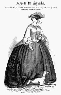 Womens Fashion, 1857 Poster by Granger