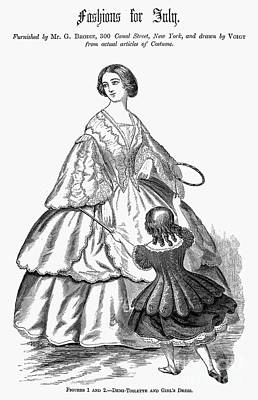 Womens Fashion, 1859 Poster by Granger