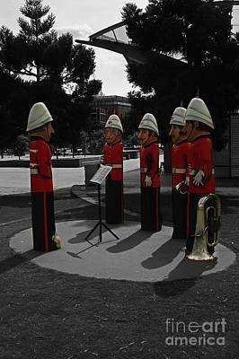 Poster featuring the photograph Wooden Bandsmen by Blair Stuart
