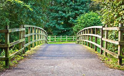 Wooden Footbridge Poster by Tom Gowanlock