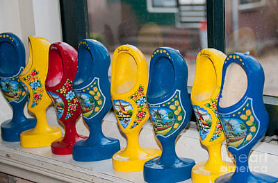 Wooden Shoes Poster by Carol Ailles