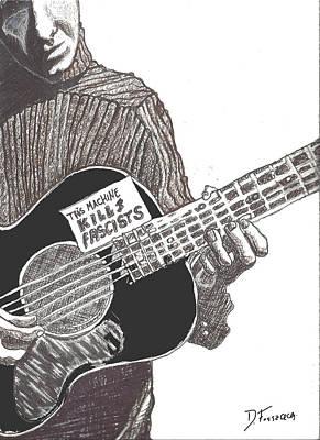 Woody Sez Poster by David Fossaceca